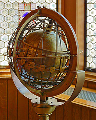Astrolabe in the Polish Room – Cathedral of Learning, University of Pittsburgh, Forbes Avenue, Pittsburgh, Pennsylvania