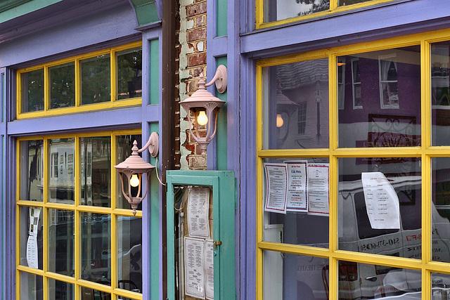 Restaurant Window – William Street, Fredericksburg, Virginia