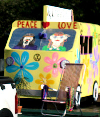 Followed by a Peace ~ Love bus..