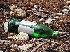 Rubbish spoils a pristine shore