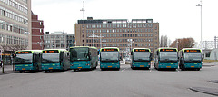 Busses at Leiden Station