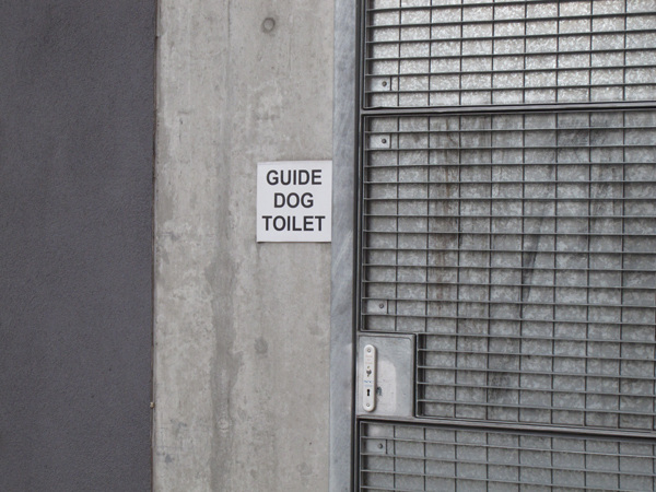Guide dog toilet