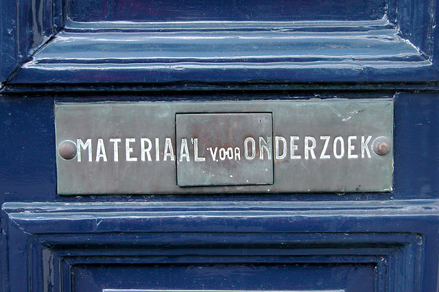 Letter box for research material