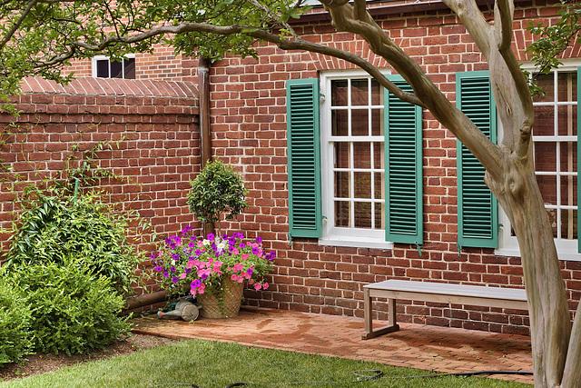 The Courtyard Outside President James Monroe's Law Office – Fredericksburg, Virginia