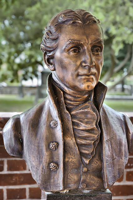 Bust of James Monroe – President James Monroe's Law Office, Fredericksburg, Virginia