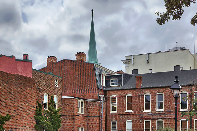 Saint George's Steeple – Viewed from William Street near Princess Anne Street, Fredericksburg, Virginia