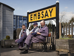 The Embsay and Bolton Abbey Steam Railway Crew
