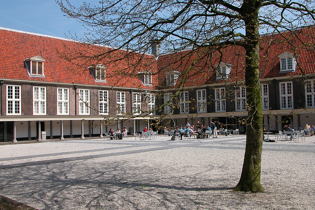 The former Plague House in Leiden - inner court