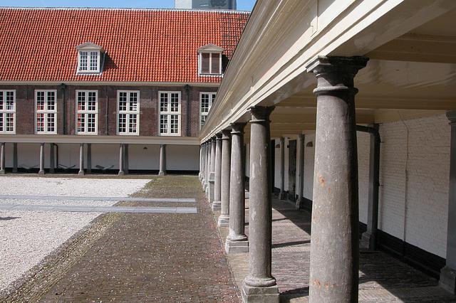 The former Plague House in Leiden - inner court