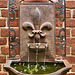 Fleur-de-lys Fountain – President James Monroe's Law Office, Fredericksburg, Virginia
