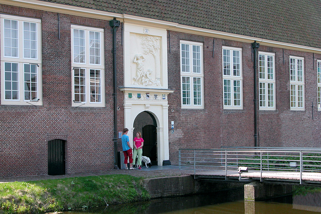 The former Plague House in Leiden - entrance