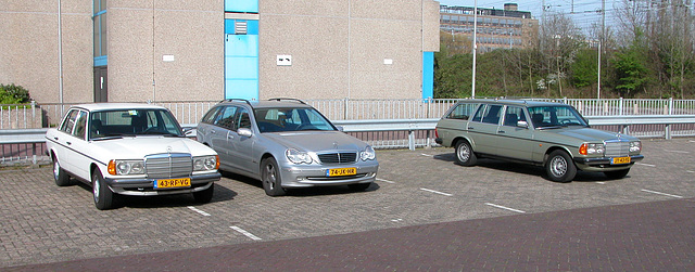 My Merc waiting for me at the garage next to other Mercs