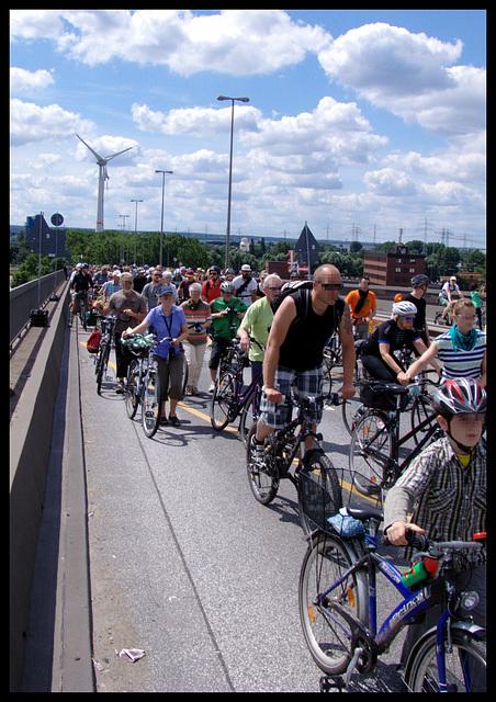 Fahrrad - Sternfahrt 2014, Hamburg