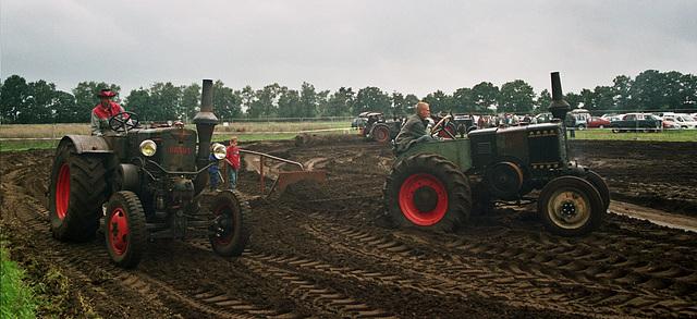 Boys on their big machines