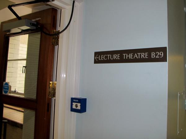Lecture theatre B29