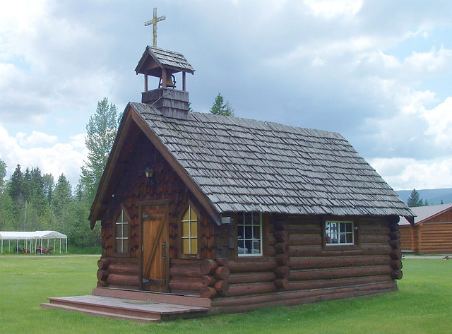 Quaint church on Wells Gray Guest Ranch