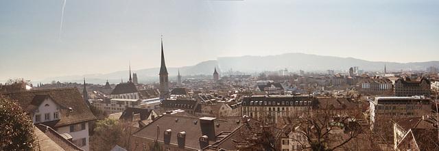 View from the Polytechnikum (ETHZ) in Zürich, Switzerland