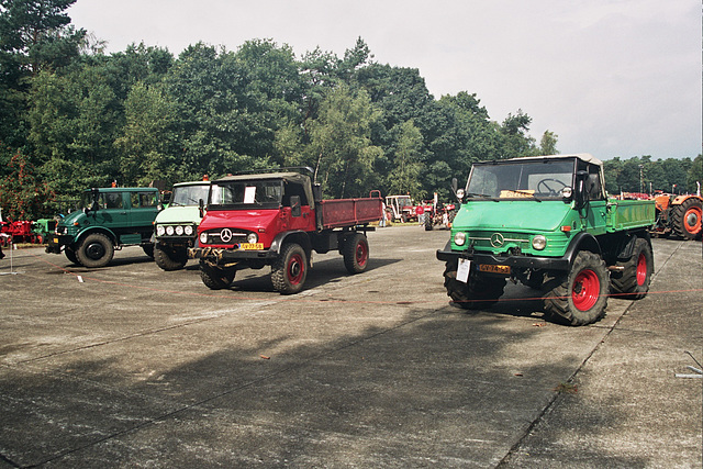 Visiting the Oldtimer Festival in Ravels, Belgium: Mercedes-Benz Unimogs