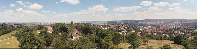 View from the Bismarck Tower in Stuttgart, Germany