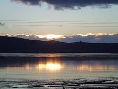 """Lever de soleil sur le lac salé """"Mzouri """""""