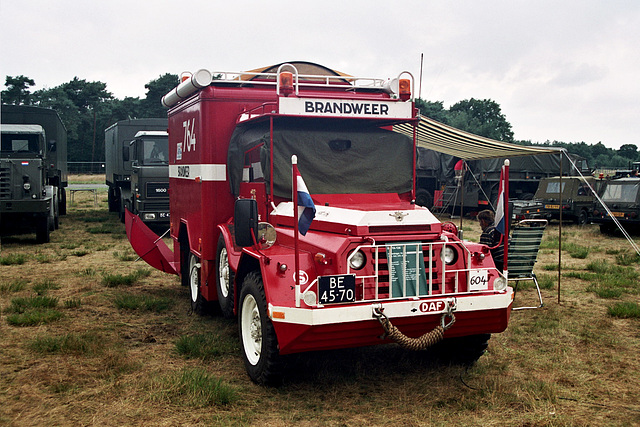 Visiting the Oldtimer Festival in Ravels, Belgium: 1958 DAF YA126/3.5 Fire Engine