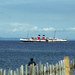 PS Waverley off Brodick Ise of Arran