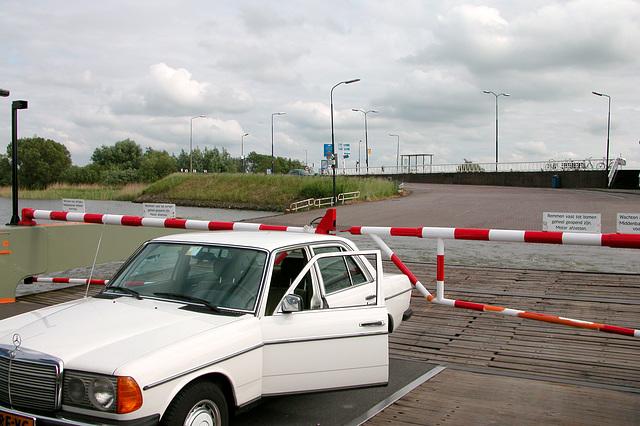 My Merc ferried over at Schoonhoven