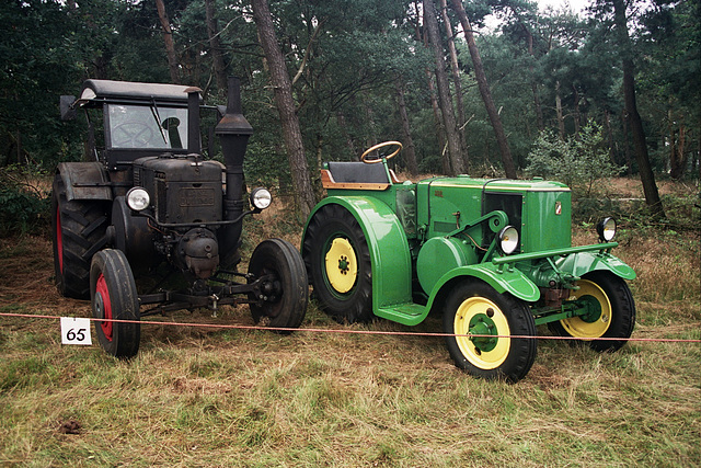 Visiting the Oldtimer Festival in Ravels, Belgium:  1938 Lanz Bulldog D9506 and 1953 Vierzon 302