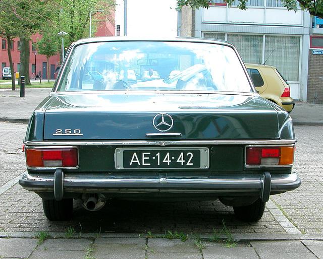 Merc spot: 1970 Mercedes-Benz 250 Automatic (American version)