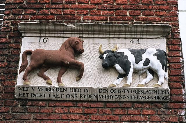 Old stone in Leiden