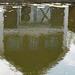Boathouse reflected