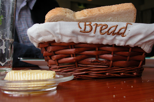 A day in the country: silly bread basket in a restaurant in Buitenkaag