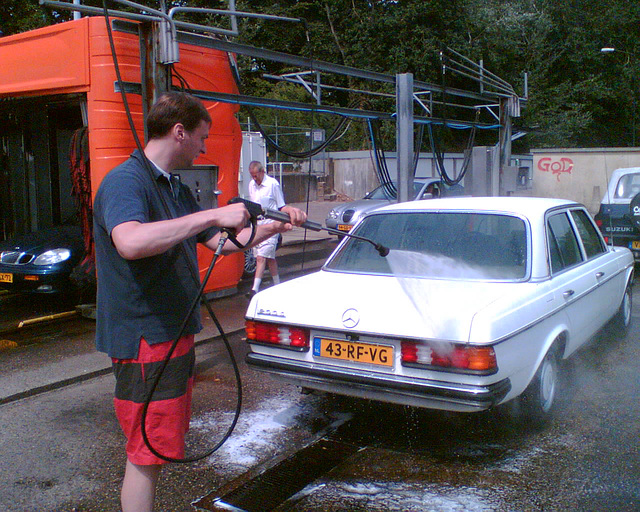 Me washing the Bismarck