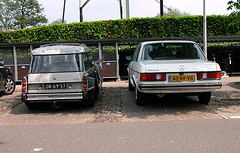 My Merc parked next to a 1972 Citroën ID 20 F Break Luxe