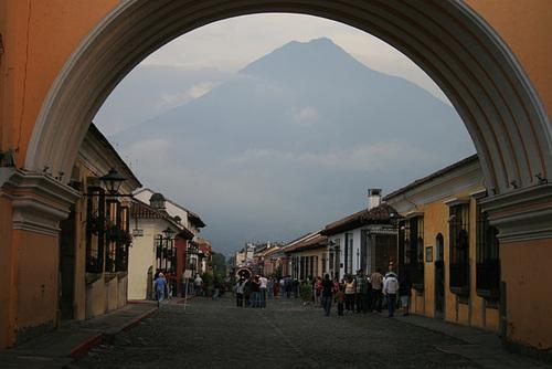 Volcán Agua Looms Over Antigua