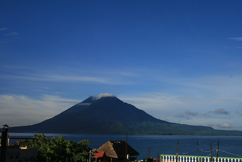 Two Volcanoes Over Lago de Atitlán