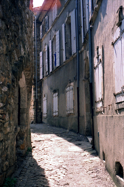 Old picture: alley in France