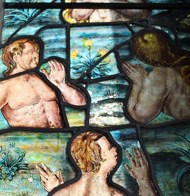 Detail of Seventeenth Century Stained Glass, Saint Leonard's Church, Apethorpe, Northamptonshire