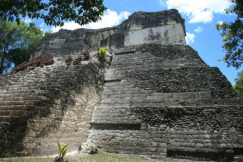 A Picturesque Mayan Temple