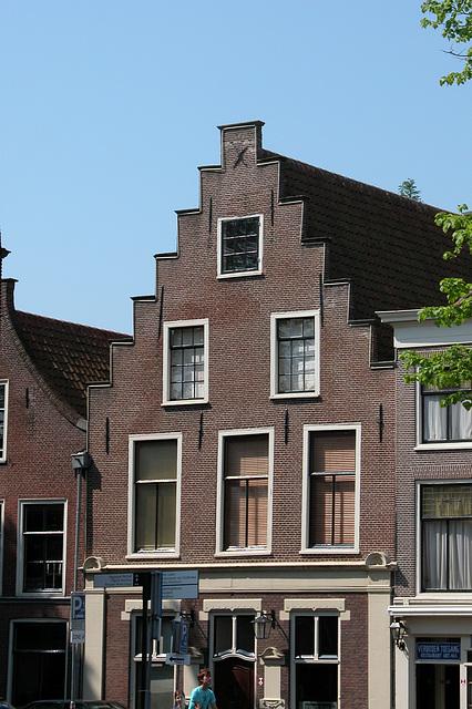 Step gable on the Rapenburg in Leiden, the Netherlands