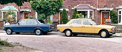 Two Mercs W123