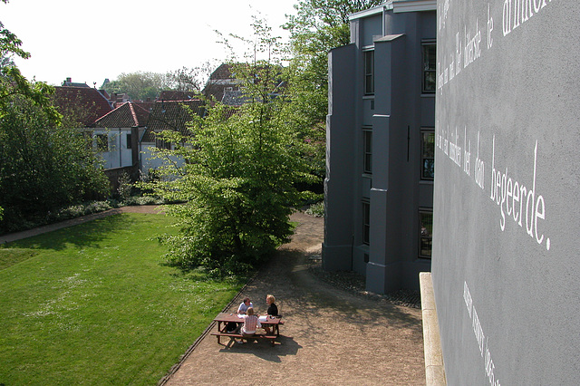 Garden of the administrative building of Leiden University