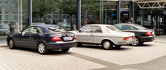 Mercedes 280 CE – side view