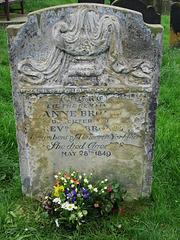 Anne Bronte's grave.