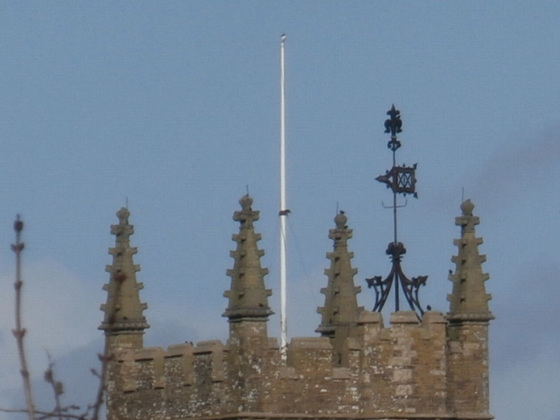 Detail of the weather vane
