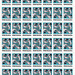 pisceana stamp, blue background