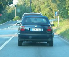 Miscellaneous German shots: German number plate