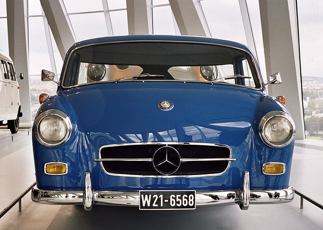 Visiting the Mercedes-Benz Museum: 1955 Mercedes-Benz high-speed racing car transporter