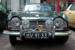 A visit to Wijk bij Duurstede - 1964 Triumph TR4