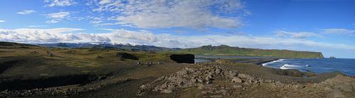 Panorama over Reynisfjara